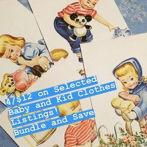 SALE 4/$12 on Selected Baby Kids Clothes Listings